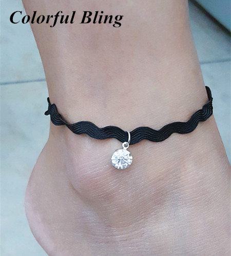 Anklets Trustful New Cross-border Jewelry Jewelry & Accessories Black-rope Silver Pearl Shell Footchain Handwoven Footchain Ankel Bracelets Office/career