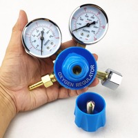 Dual Gauge Sauerstoff Regler 0 250bar (0 25MPa) zu 0 25bar (0 2.5MPa) g5/8 Einlass Schweißen Schneiden Gas Druck Sauerstoff Regler-in Schweißbrenner aus Werkzeug bei