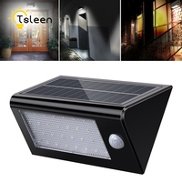 TSLEEN 2 X Solar Powered Lamp IP65 Waterproof Motion Sensor Light Luz Solar Para Casa Luminaria Solar de Exterior 32Leds