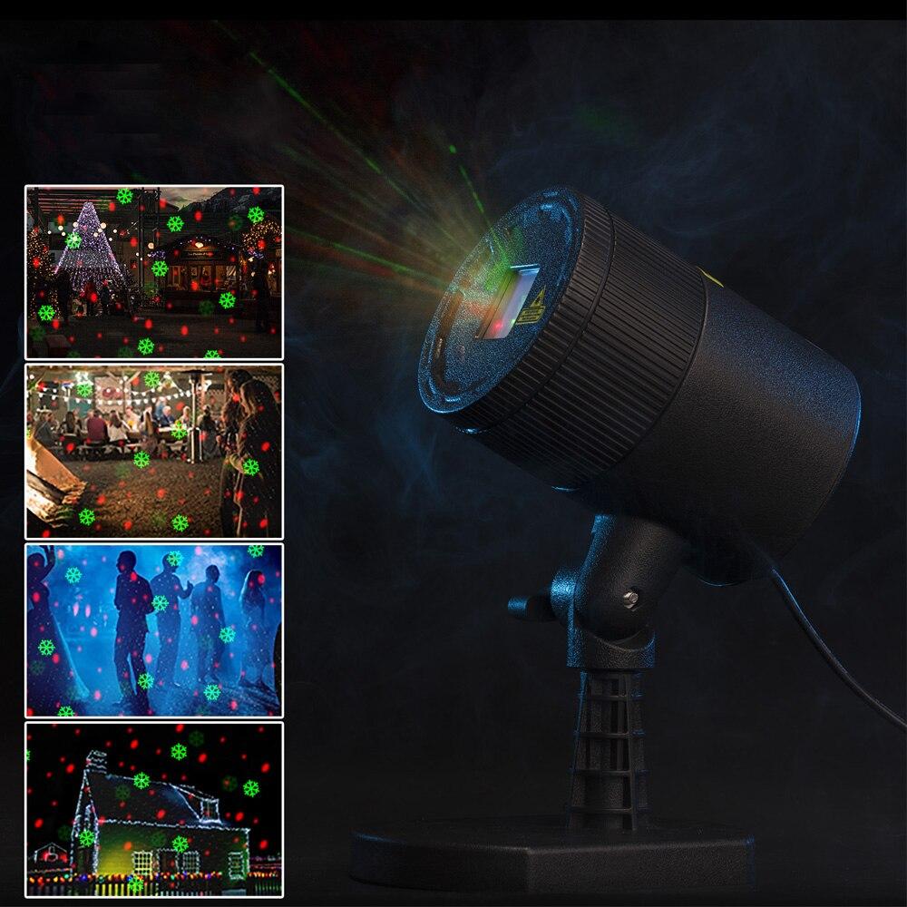 Премиум Открытый украшения сада Водонепроницаемый IP65 Рождество лазерный прожектор свет звезды проектор душ для дома Decoretion