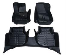 Envío libre personaliza coche tapetes alfombras pie conjunto absorción de choque de cuero alfombra antideslizante durable para passat lavida polo cc