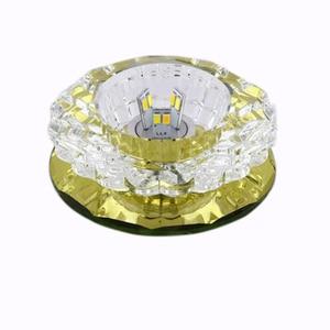 Image 2 - LAIMAIK kryształowe oświetlenie sufitowe 3W oświetlenie halowe AC90 260V lampka na ganek kryształowa lampa ledowa dynia LED sufitowe przejście światła korytarz