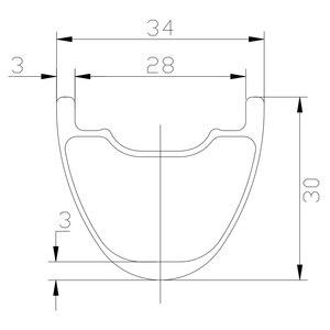 Image 3 - 350g 29er MTB XC 34 มม.ยางขอบคาร์บอน 30 มม.ลึก 24 28 32 หลุม UD 3K 12K 3K Matte Glossy 29in Clincher hookless ล้อ