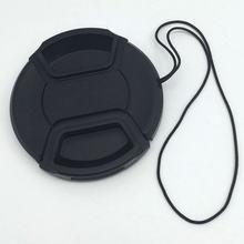 1 шт. Новинка 52 55 58 мм Центральная защелкивающаяся передняя крышка объектива для фильтров объектива камеры с ремешком с веревкой против потери
