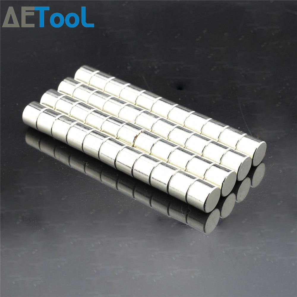 AETool Новый 10×8 мм неодимовый магнит постоянный N38 NdFeB супер сильный маленький круглый Магнитные магниты диск 10 мм x 8 мм