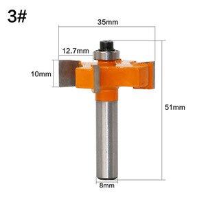 Image 3 - 1Pc 8mm Schaft T Slot Fräser Mit Top Lager Holzbearbeitung Router Bits Schneider Für Holz Rabbeting Bit großhandel Preis