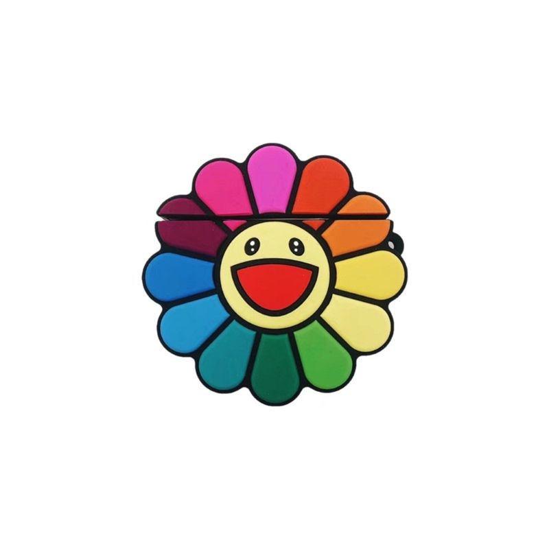 De silicona suave moda lindo colorido flores cubierta protectora a prueba de golpes caso piel con cordón para los Airpods 1/2 caja de carga-in A Accesorios para auriculares from Electrónica on Aliexpress.com | Alibaba Group