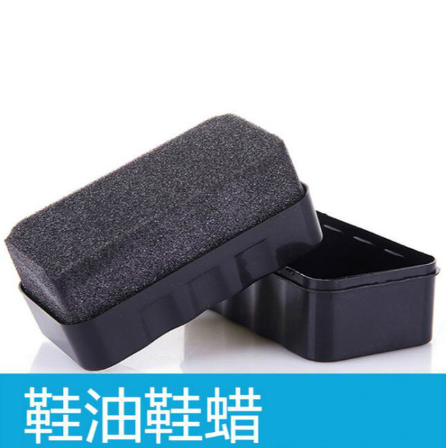 Chaussure en cire éponge à une Face   Soins de chaussure en cuir 4 pièces/lot, vernis à chaussures en éponge