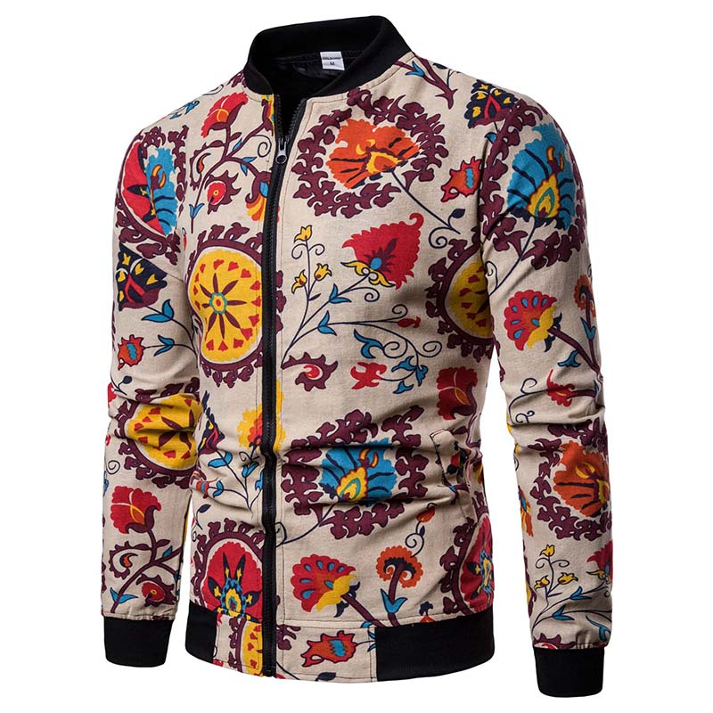 Mens Jackets New Japanese Floral pattern  Men Jacket Coat Man Hip Hop Streetwear Men Jacket Coat Bomber Jacket Men Clothes Sping