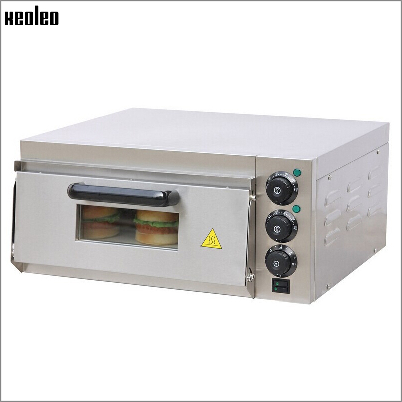 xeoleo commercial electric pizza oven stainless steel single horizontal pizza stove baker oven pizza machine 2kw - Pizza Oven For Sale