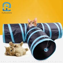 FURGERIN Foldable Cat Toy Tunnel Outdoor Indoor cat training toy for cats pet Rabbit Kitten Puppy Play Tube T-joint