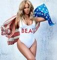 2015 Beyonce sexy macacão branco batida carta bodysuit de uma peça bodycon macacões traje moda