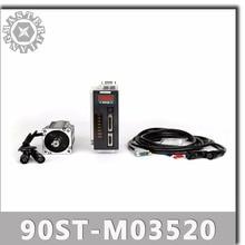 90ST M03520 220V 730W AC Servo motor 3.5N.M. 2000RPM 0.73KW Single Phase servomotor ac drive permanent magnet Matched Driver