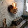 Lyfs 7,5X11 см творческий кулак смолы настенные светильники украшения кафе ресторанная спальня настенный светильник E27 90 V-260 V - фото