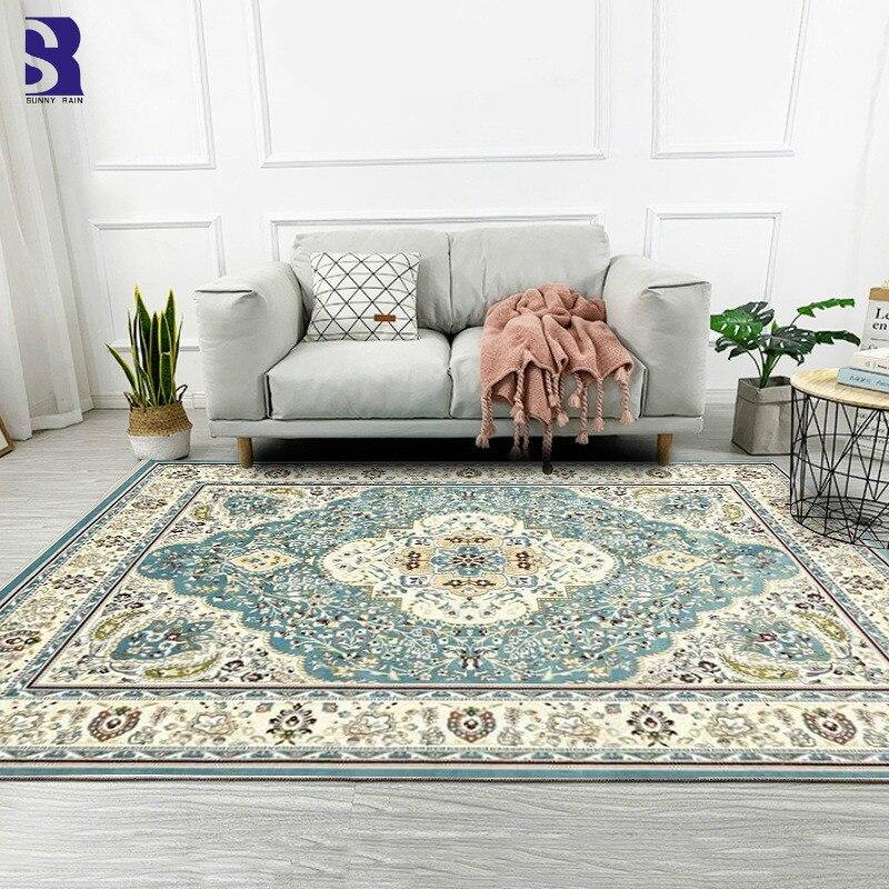 SunnyRain 1-pièce grands tapis pour la maison salon tapis et tapis tapis pour chambre à coucher résistance au glissement