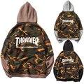 Camo Hiphop Thrasher Sweat Camouflage Hoodie Men Harajuku Hip Hop Streetwear Urban Trasher Skateboard Rock Band Plus Size 4XL