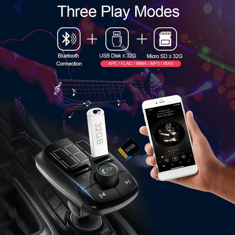 Image 5 - Автомобиль Bluetooth MP3 плеер цифровой трубки Дисплей стерео fm передатчик Dual USB мобильный телефон Зарядное устройство громкой связи-in MP3-плеер для авто from Автомобили и мотоциклы on AliExpress - 11.11_Double 11_Singles' Day