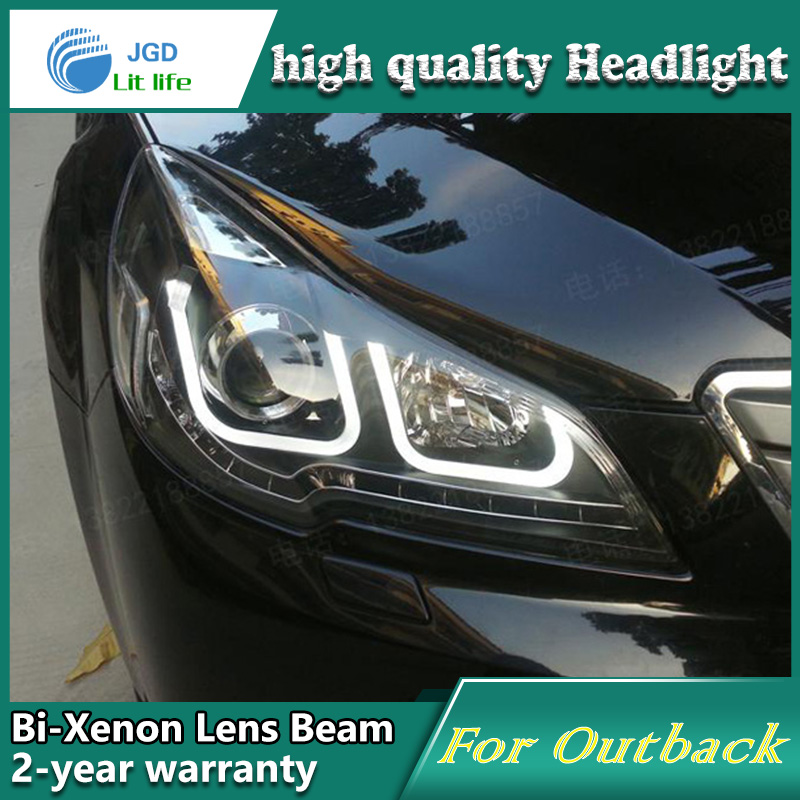 Car Styling Head Lamp case for Subaru Outback 2010 2011 2012 Headlights LED Headlight DRL Lens Double Beam Bi-Xenon HID hireno headlamp for 2010 2012 kia sorento headlight assembly led drl angel lens double beam hid xenon 2pcs