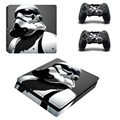Game Star Wars Stormtrooper Desgin for PS4 Slim Skin Sticker for Sony PlayStation 4 Slim Console and 2 Controller Decals Sticker