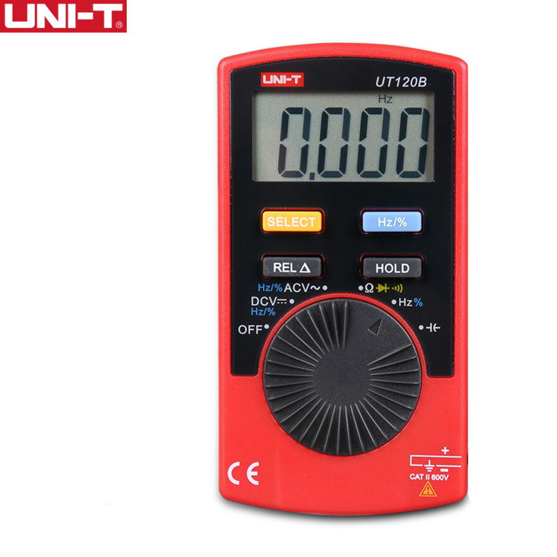 UNI-T UT120B Tascabile multimetro digitale multimetro frequenza Diodo Capacità Automatico Portata facile
