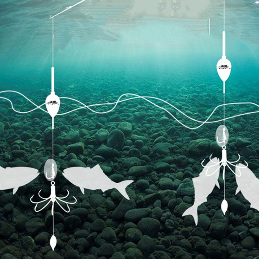Image 4 - Отлично 8 в 1 крючок с окружающей среды отвес Автоматическая рыболовный крючок Портативный полный Скорость рыба аксессуары-in Рыболовные крючки from Спорт и развлечения