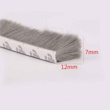 7mm x 12mm self adhesive window door draught excluder brush pile sealing tape weather strip self adhesive sealing wool pile weather strip felt draught excluder sliding door window brush seal 9mm x 23mm 9 x 23mm white