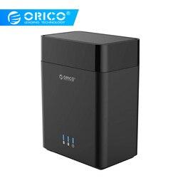 ORICO Dual Bay di tipo Magnetico da 3.5 pollici Hard Drive Enclosure USB3.0 per SATA3.0 3.5 in HDD Caso di Supporto UASP 12V4A Potenza MAX 20 TB