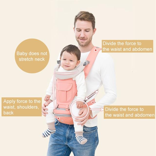 Ademend Ergonomische Baby Baby Carrier Rugzak Draagbare Baby Draagzakken Hip seat Hopen Baby Sling Carrier Wrap 2019 Nieuwe 1