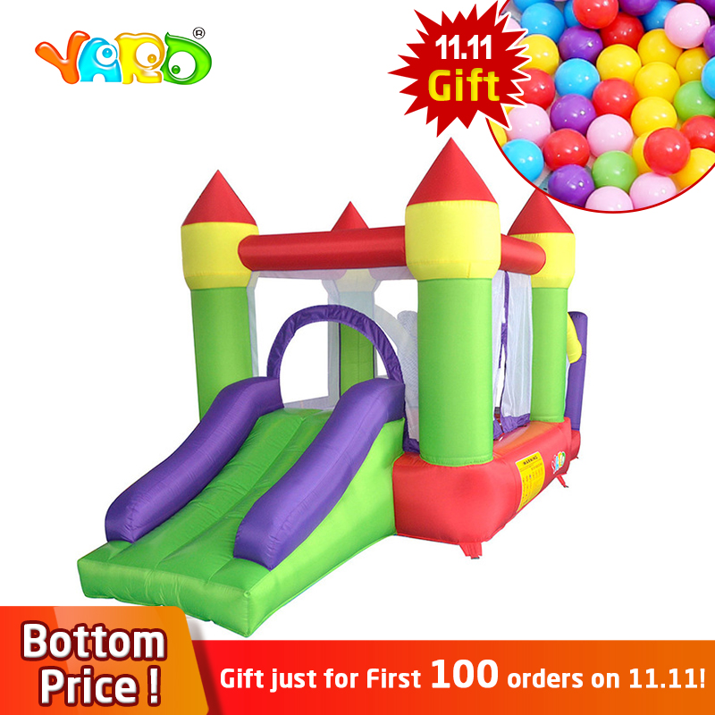 YARD Inflatable Trampoline Bouncer House Slides 3 types Children Inflatable Inflatable Games Outdoors Jumpling Bouncer Castle стоимость