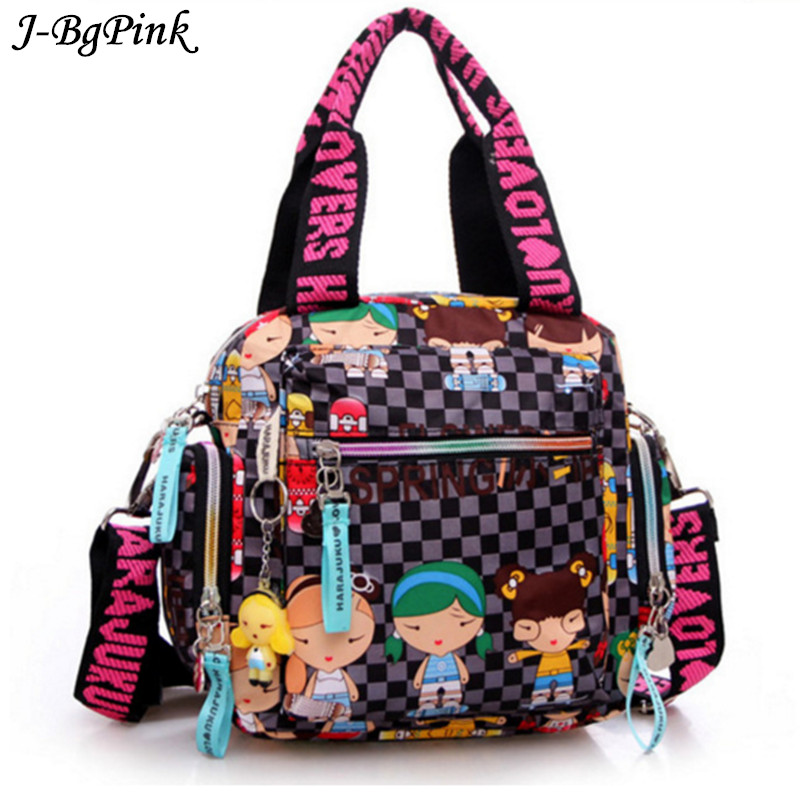 New   Harajuku Doll waterproof nylon handbag ladies bag one shoulder cross-body