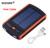 6000 mAh Banco de Potência Carregador Solar Carregadores de Bateria Externa À Prova D' Água Dupla usb powerbank para iphone 5s 6 6 s 7 plus para samsung