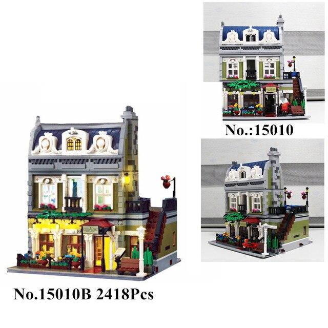 Bloc Jouet 10243 Dans Stock Restaurant Parisien 15010b Ville En Compatible Kits Lepin 2418 Pcs 15010 Hxy Hamp; Rue De D'experts Modèle Construction EH9D2WI