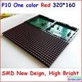 Smd p10 полу-открытый крытый красный 320*160 32*16 один цвет hub12 монохромный, светодиодная вывеска модуль, p10 один красный цвет панели