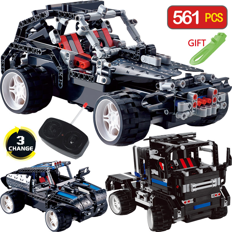Technic Transformtion Series LegoINGlys Vehicle Truck Offroad SUV Radio Remote Control Machine Car Blocks DIY Toys For Children 2 in 1 rc car compatible legoinglys radio technical vehicle green suv control blocks assembled blocks children toys gift