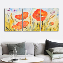 Laeacco Garden Posters and Prints Tulip Floral Wall Artwork Watercolor Paint On Canvas Painting Nordic Living Room Home Decor