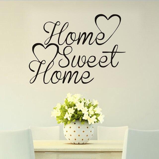 Muursticker Home Sweet Home.Home Sweet Home Vinyl Citaat Muursticker Diy Slaapkamer Decoratie