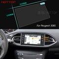 Pantalla de la Película Protectora de Acero de 7 Pulgadas de Navegación GPS Para Peugeot 308 de Control de Pantalla LCD Coche Que Labra la Etiqueta Engomada
