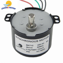 CHANCS AC мотор 220 V 50 Z 30 RPM Синхронный Мотор редуктор 6 W