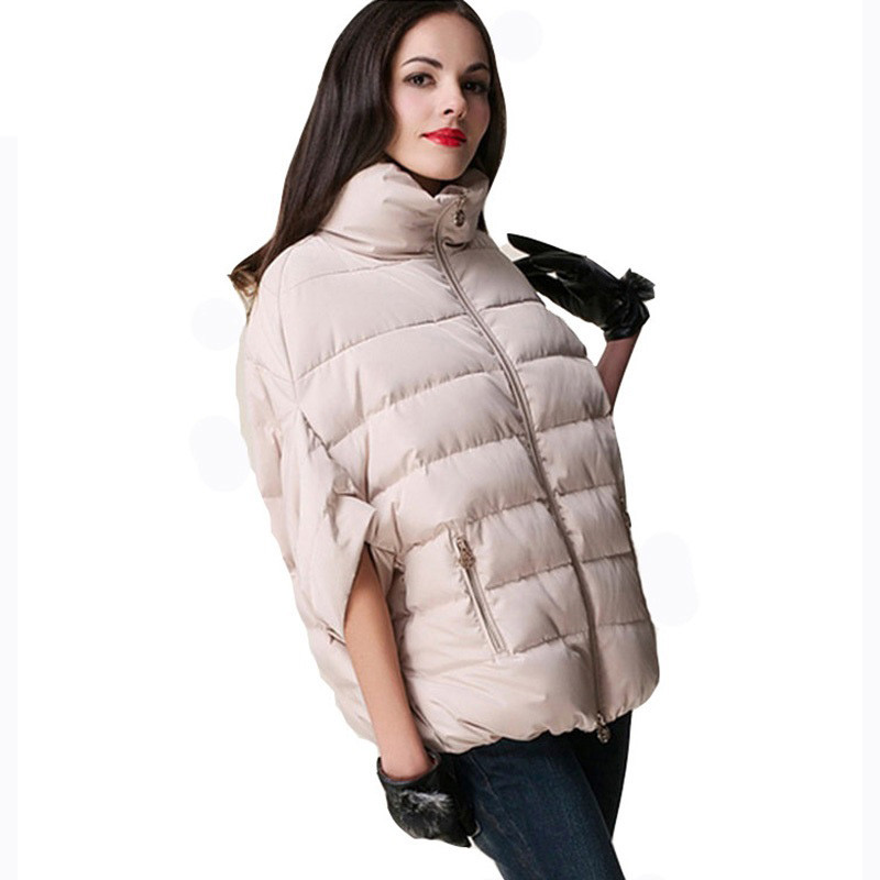 Full New Ladies Individuation Fashion Winter Jacket Outerwear Bat Sleeve Thick Women Jackets   Parka   Overcoat Women Cotton-padded