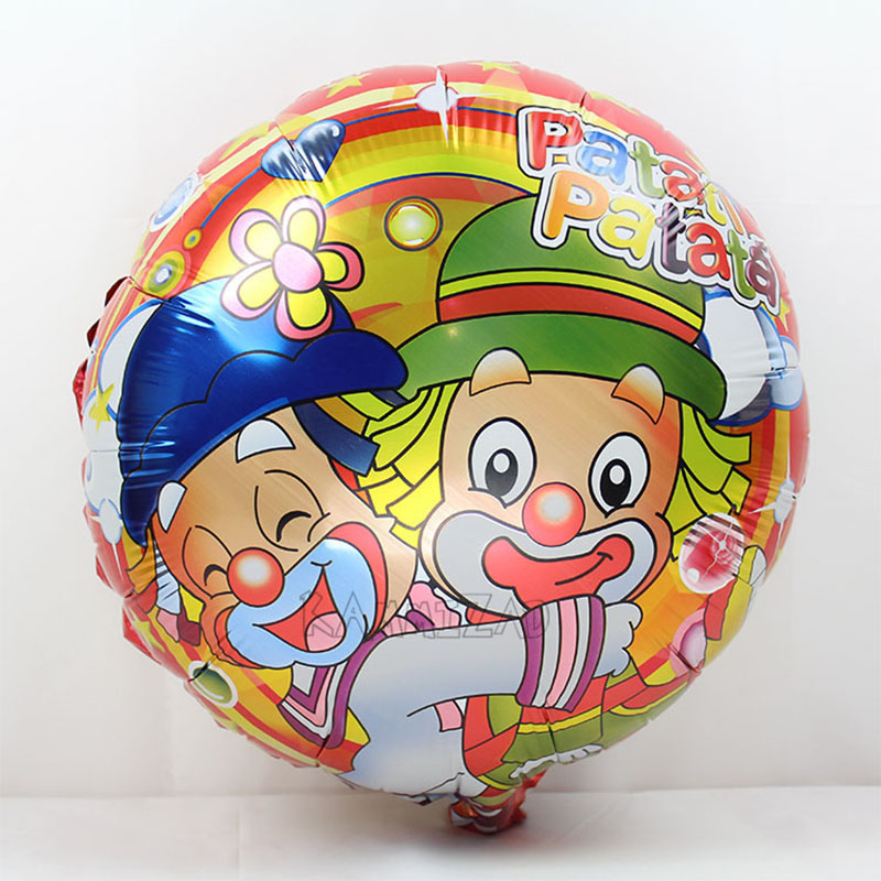 10pcs lot clown party balloons 18inch patati patata helium ballon for child birthday party decorations globos de festa infantil in Ballons Accessories from Home Garden