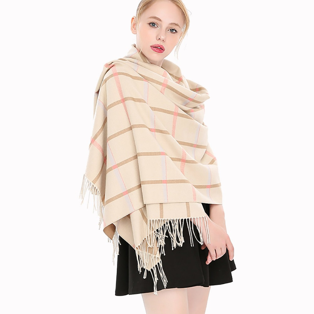 2018 New Design Winter Women Scarf Cashmere Scarf Female Plaid Scarves Blanket Shawls and Scarves
