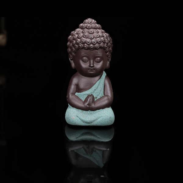Seramik küçük keşiş heykelcik ev dekor buda heykel figürleri süsleme araba oturma odası çayevi TB satış