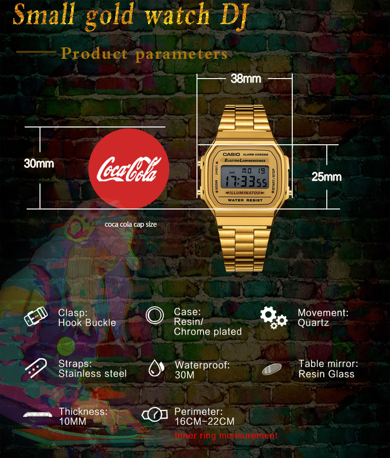 שעונים saati גברים דיגיטלי 4