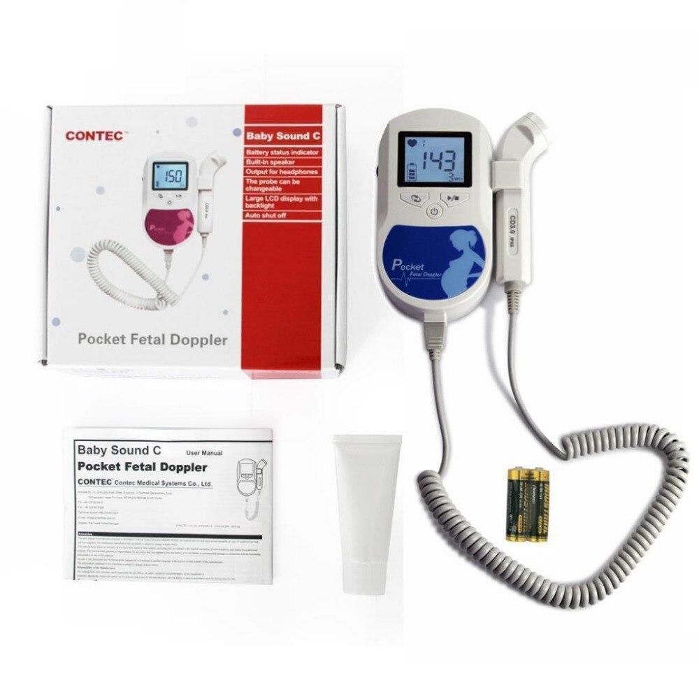US Seller NEW Handheld FDA Pocket Fetal Doppler,Baby Heart Beat Monitor,free Gel