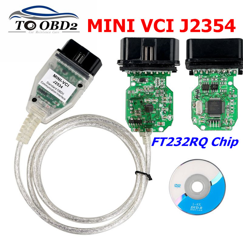 MINI VCI V14.20.019 Latest Version FTDI FT232RQ Chip High Performance OBD SAEJ2534 For Toyota/for Lexus MINI-VCI TIS Techstream