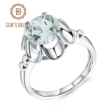 GEMS BALLET 2.73Ct Natural Green Amethyst Engagement Ring For Women 925 Sterling Silver Gemstone Finger Rings Fine Jewelry