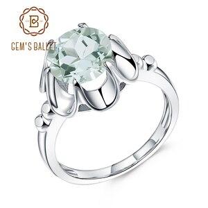 Image 1 - Gems Ballet 2.73Ct Natuurlijke Groene Amethist Engagement Ring Voor Vrouwen 925 Sterling Zilver Gemstone Vinger Ringen Fijne Sieraden