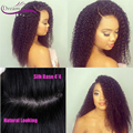 Left Right Middle Part Silk Top 180 Density Thick Kinky Curly Full Lace Wig Human Hair Front Lace Wig Cheap Human Hair
