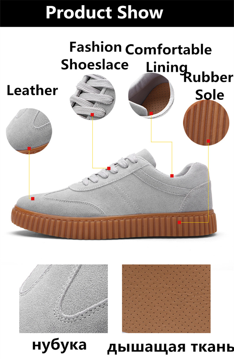 KUYUPP Men Casual Shoes quality creepers suede shoes size 39-44 luxury men shoes flats chaussure femme 2017 spring autumn Y171 (28)