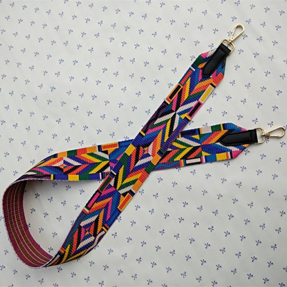 Replacement Handbag Not Adjustable Wide Shoulder Bag Strap Crossbody Ethnic Style Parts RFID Blocking Belts Ribbon Bag Accessory